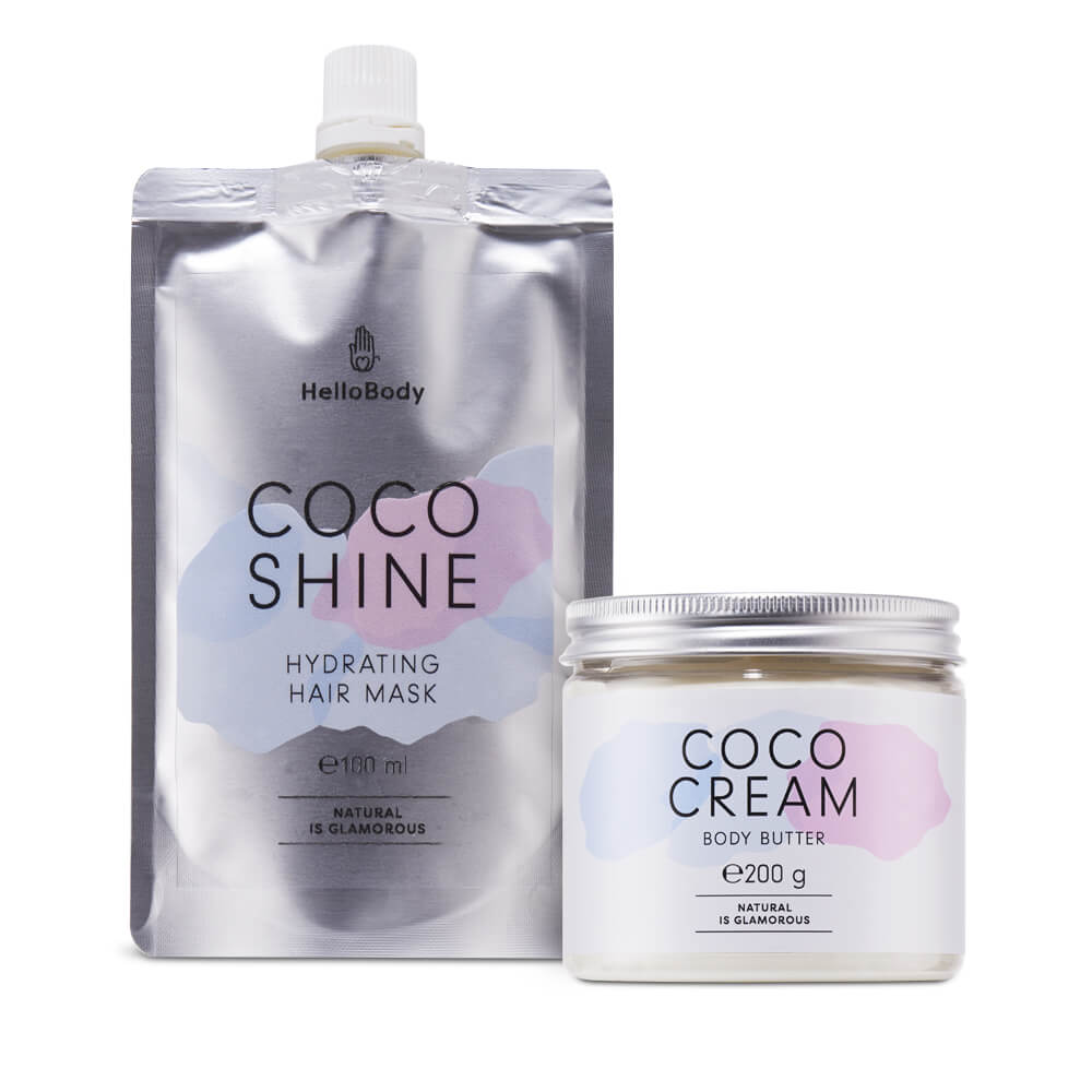 coco cream n shine hello body
