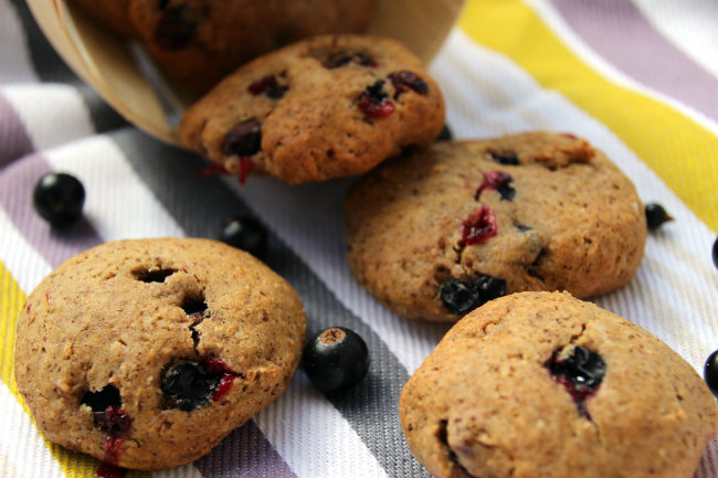cookies vegan au cassis