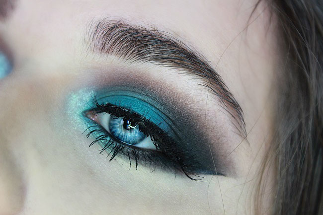 makeup teal tuto