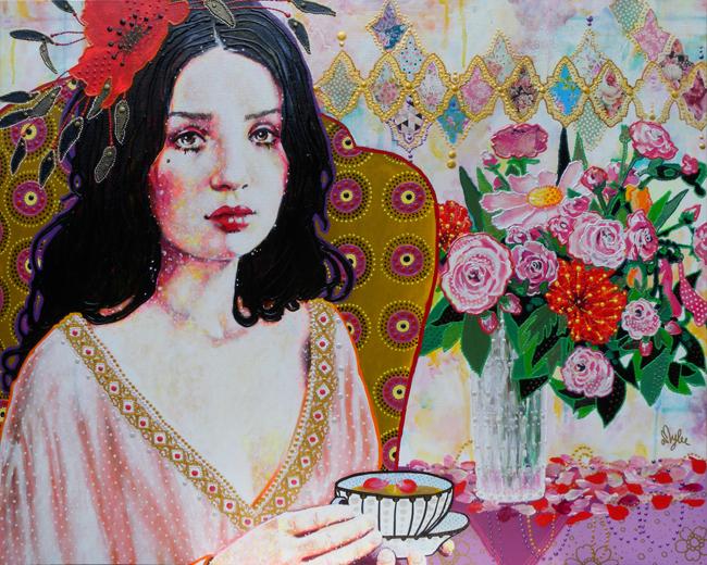 peinture portrait amylee