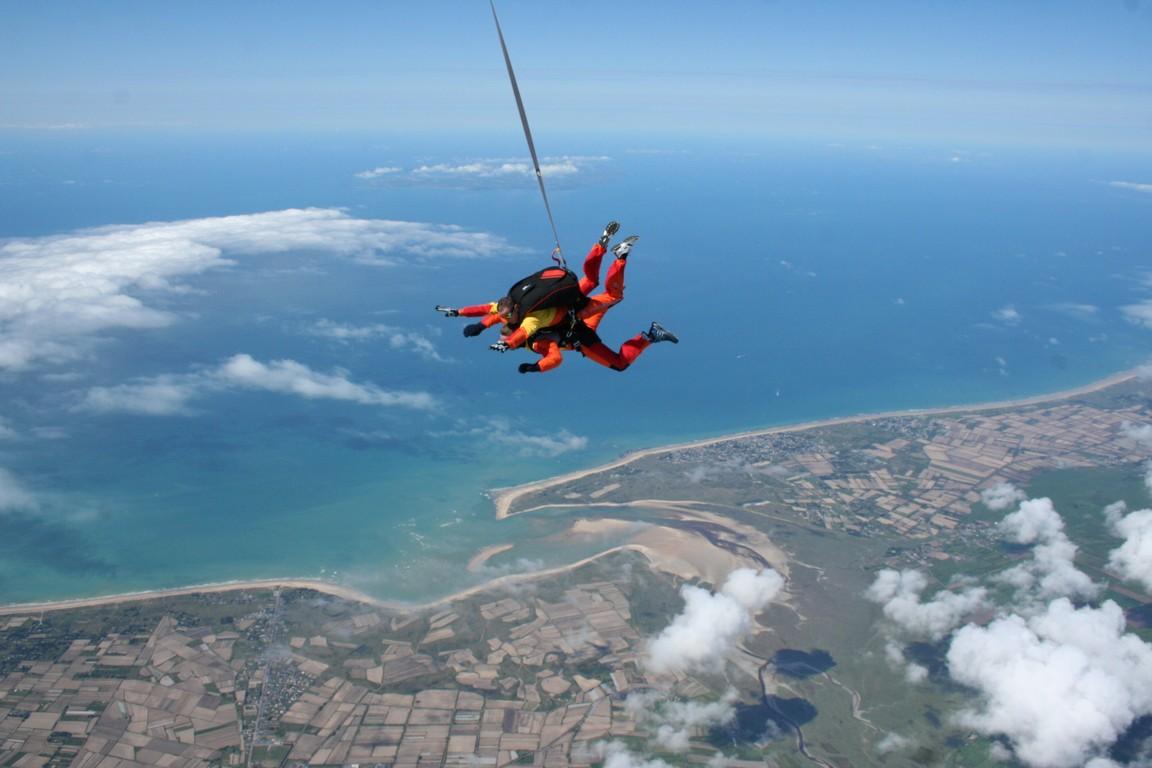 saut en parachute fête des pères