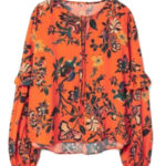 Blouse orange Mango