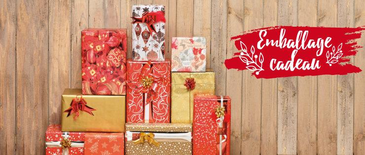 emballages cadeaux pour Noël