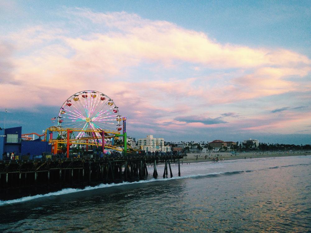 Jetée de Santa Monica Beach